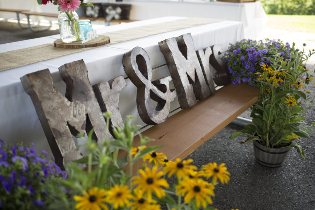 mr and mrs sign wedding decor