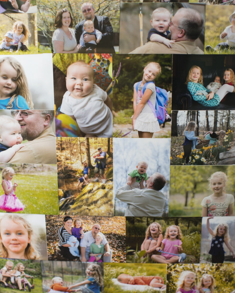 homemade diy craft photo collage